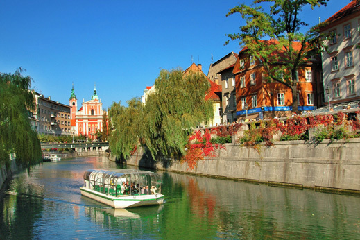 Start your trip in a bustling and charming Ljubljana, Green capital of Europe in 2016.