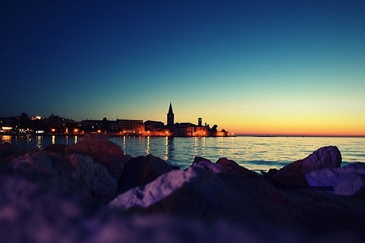 Romantic sunsets over the Adriatic sea - istria cycling tour