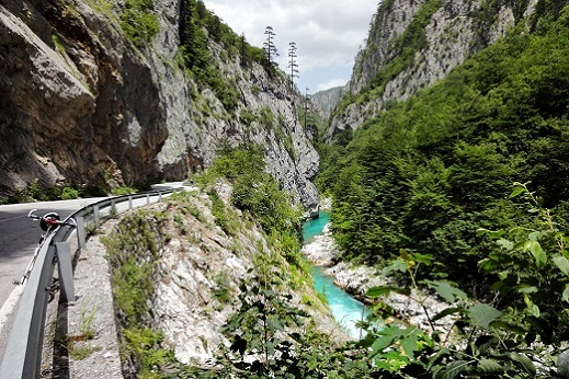 Cycling along the Tara River Canyon. Cycling Montenegro Tour.