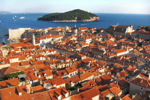 Dubrovnik, pearl of the Adriatic. Cycling Montenegro tour