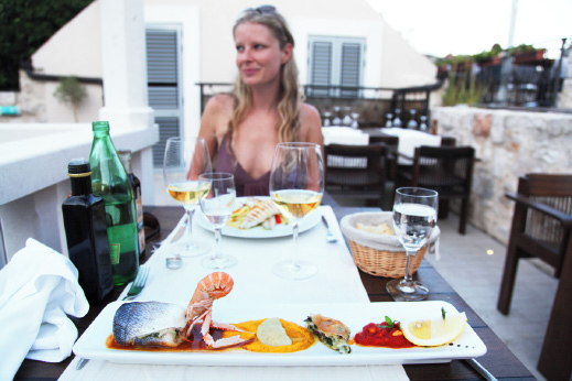 Fresh seafood delicacies, croatia tour dalmatia
