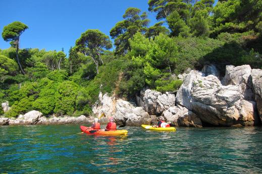 Lokrum island sea-kayak, Dubrovnik, Dalmatia tour