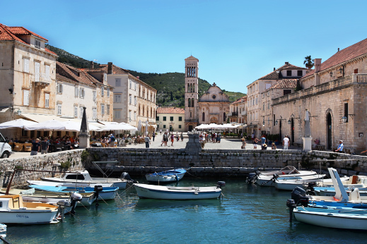 Medieval town of Hvar with it's stone architecture
