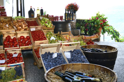 Colours of the season - local fresh veggies