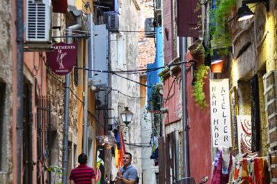 Colourful streets of Rovinj