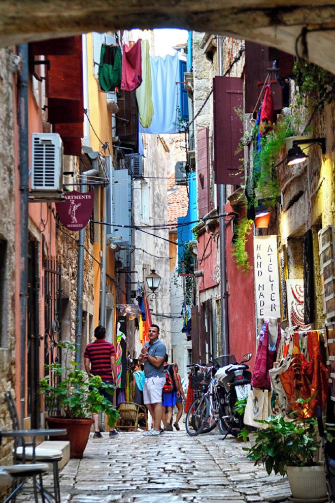 Colourful streets of Rovinj