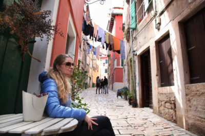 Waiting for the morning coffee, taking in the moment, Rovinj