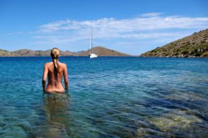 Secluded swimming spots are not hard to find