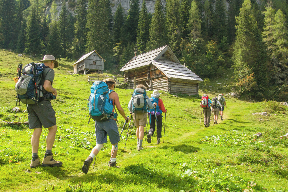Alpine meadows, wooden shepherds' cottages and spectacular scenery