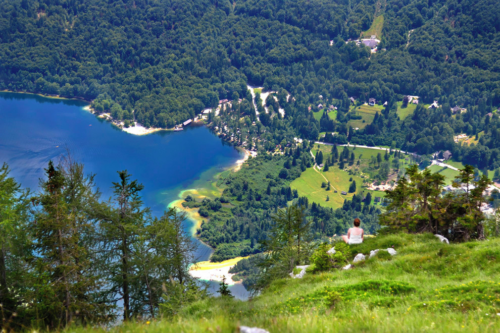 Overlooking Bohinj Lake