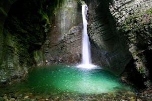 Waterfall Kozjak, Soca valley, Slovenia