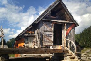 Wooden shepherds' huts
