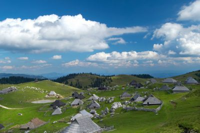 Velika Planina mountain plateau