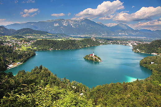 Picture perfect view of lake Bled