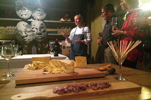 Cheese and wine tasting with Ana Ros at Casa Franko.
