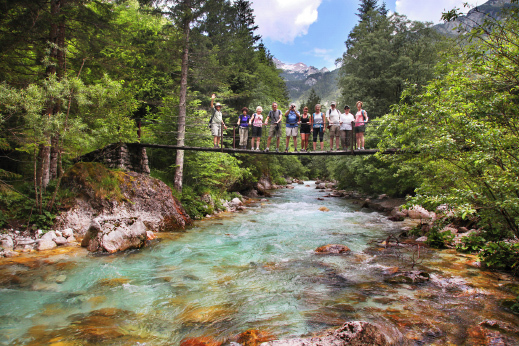 The emerald Soca river is considered to be one of the most beautiful and pure Alpine rivers.