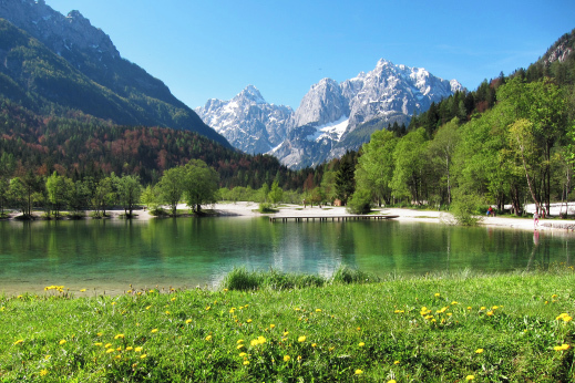 Lake Jasna at Kranjska Gora