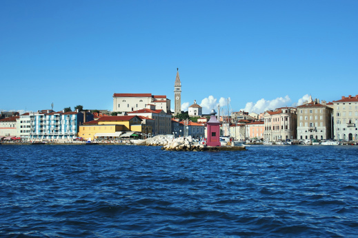 Coastal town of Piran, cycling slovenia