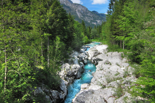 "Soca river - natural treasure and the ""mecca"" for adrenaline water sports enthusiasts. Mtb trails soca slovenia."