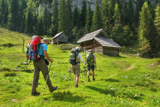 Hut to hut hiking Slovenia: Wooden shepherds' cottages that look like something straight out of the Grimm's Hansel and Gretel fairy tale.