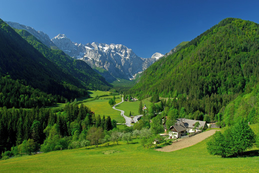 Hiking Slovenia - serenity magnificent valley - Logarska dolina