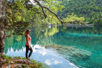 Peaceful Bohinj Lake.