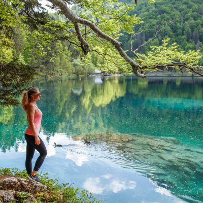 Peaceful Bohinj Lake.