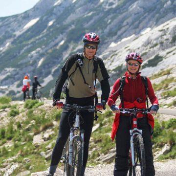 Cycling across Durmitor mountain range.