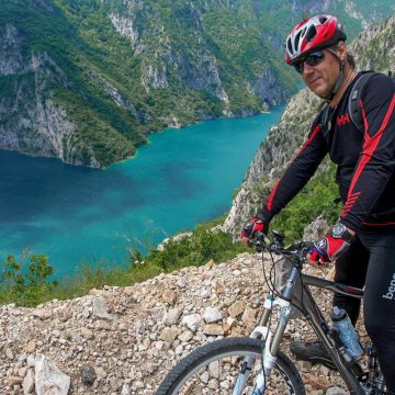 50km bike descent from Durmitor mountain range to Piva canyon.
