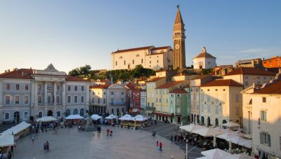 Seaside town of Piran, dubbed Slovenian Venice.