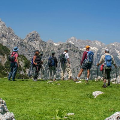 Hiking in the Julian Alps.