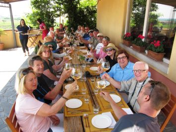 During our Culinary Slovenia tour in Brda wine country. We're ready to taste some world-renowned wines and delicious farm-to-table food.