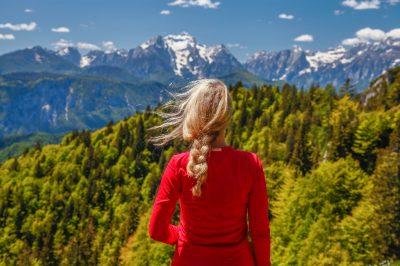 Looking at Karavanke mountain ridge.