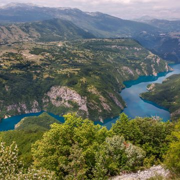 The canyon of Piva river, close to Bosnian border.