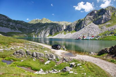Spectacular scenery in the central mountains of Montenegro.