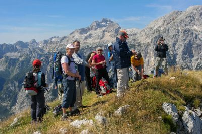 During our Hiking highlights of Slovenia tour.