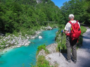 Hiking the Soča trail, along this remarkable, turquoise river.