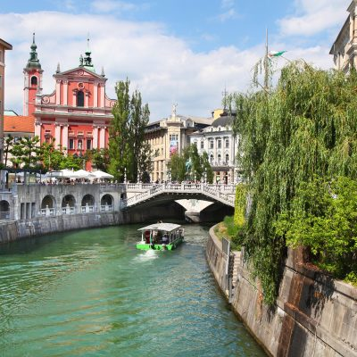 Ljubljana city center.