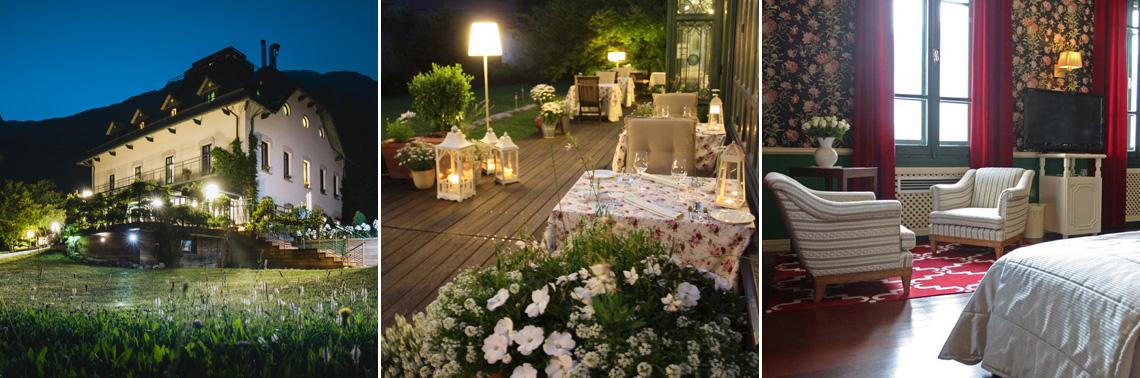 Dinner setting on the wide terrace at Dobra Vila hotel